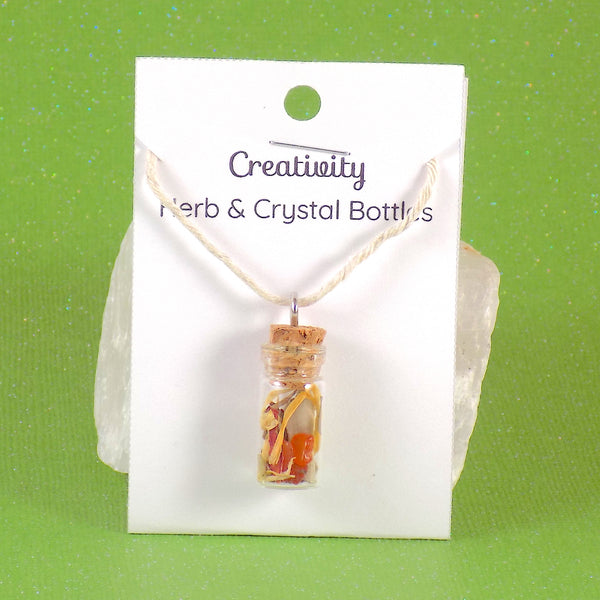 Creativity Herb Crystal Bottle
