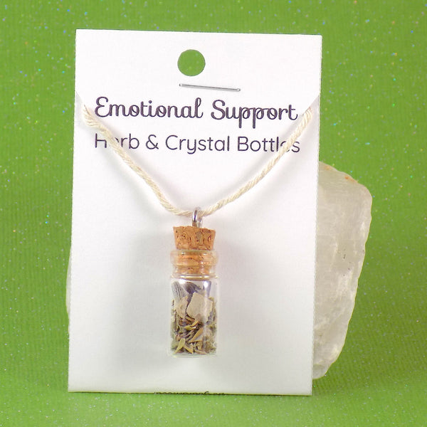 Emotional Support Herb Crystal Bottle