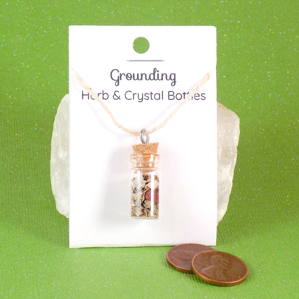 Grounding Herb Crystal Bottle