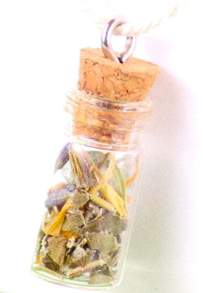 Sample Herb Crystal Bottle