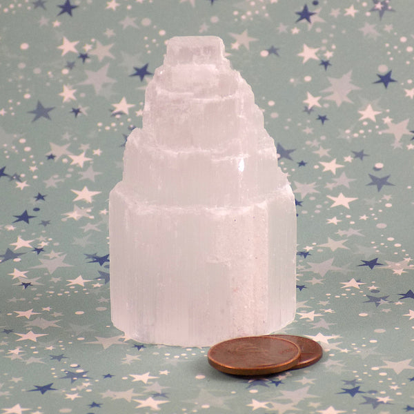 Selenite Tower Mini Crystal Size Amanda McElhaney