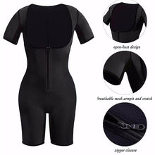 Load image into Gallery viewer, Women Shaping Open-Bust Half Sleeve Bodysuit Shaper Zip Closure