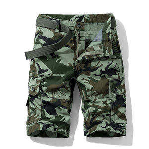 Luulla Men's Summer New Classic Vintage Camouflage Cotton Cargo Shorts Men Military Casual Fashion Loose Fit Cargo Shorts Men