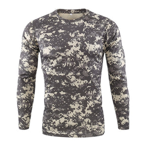 Men's Breathable Quick Dry Military Army shirt New Autumn Spring Men Long Sleeve Tactical Camouflage T-shirt camisa masculina