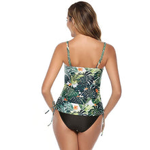 Load image into Gallery viewer, 2020 Two Piece Swimsuit Vintage Swimwear Women Shorts Tankini Sport High Waist Bikini Push Up Bathing Suit Shorts Plus Size 3XL
