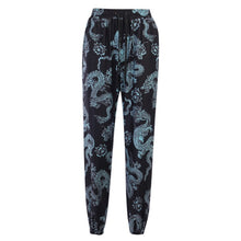 Load image into Gallery viewer, InstaHot Dragon Printed Sweatpant Cotton Women Drawstring Vintage Trousers Casual High Street Cargo Pant Jogger Women pantalon
