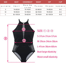Load image into Gallery viewer, Sexy Mesh Cut Hollow Out Deep V Neck High Waist Swimsuit Lady 2020 Monokini One Piece Swimwear Women Swim Bath Suit Trikini