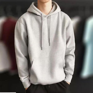2020 New pullover Fashion Brand Men Solid Hoodie Men's Casual Wild Hooded Sweatshirt Male Simple Slim Hoodies Sweatshirts Tops