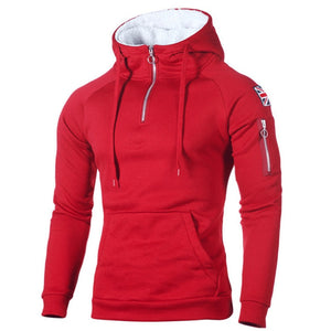 NaranjaSabor Men's Zipper Hoodies Casual Sweatshirt Mens Autumn Fasion Hooded Thick Hoodies Hip Hop Male Brand Clothing N624