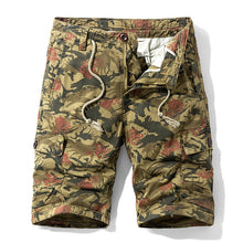 Load image into Gallery viewer, Luulla Men 2020 Summer New Casual Vintage Classic Pockets Cargo Shorts Men Outwear Fashion Twill Cotton Camouflage Shorts Men