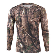 Load image into Gallery viewer, Men's Breathable Quick Dry Military Army shirt New Autumn Spring Men Long Sleeve Tactical Camouflage T-shirt camisa masculina