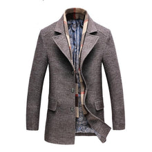 Load image into Gallery viewer, 2020 Winter Men's Casual Wool Trench Coat Fashion Business Long Thicken Slim Overcoat Jacket Male Peacoat Brand Clothes 1717