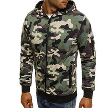 Load image into Gallery viewer, Covrlge Men's Zipper Hoodie 2019 New Autumn Camouflage Sweatshirts Hoody Casual Fashion Solid Streetwear Homme Hoodies MWW169