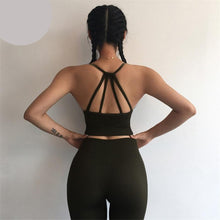 Load image into Gallery viewer, Peeli 2 Piece Yoga Set Sport Wear Women Sports Suit Fitness Gym Clothing Seamless Sports Bra Leggings Workout Running Tracksuits