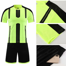 Load image into Gallery viewer, Kids Adult Soccer Jersey Set Survetement Football Kit Short Sleeve Training Suit Child Men Sportswear Blank Football Uniform DIY