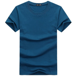 Casual Plain Solid Color Men's T-shirts - FIVE TIGERS