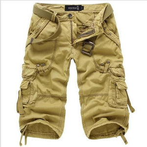 Camo Carg Work Shorts Man Military Short pants - FIVE TIGERS
