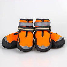 Load image into Gallery viewer, Breathable Dog ShoesDog Boots, High-Top Waterproof Dog Shoes, Breathable Anti-Slip Paw Protectors with Adjustable Reflective Straps, Pet Winter Warm Rugged Snow Rain Boots for Medium to Large Dogs, 4Pcs - FIVE TIGERS