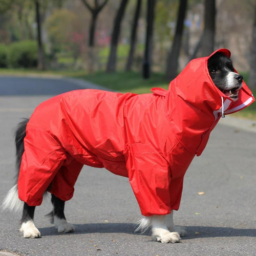 Pet Large Dog Raincoat Outdoor Waterproof Clothes - FIVE TIGERS