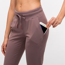Load image into Gallery viewer, Women Drawstring  Pants Fitness Women Sweatpants with Two Side Pockets