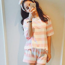 Load image into Gallery viewer, Women Sleepwear Pajamas Set Summer Cute Strawberry Short - FIVE TIGERS
