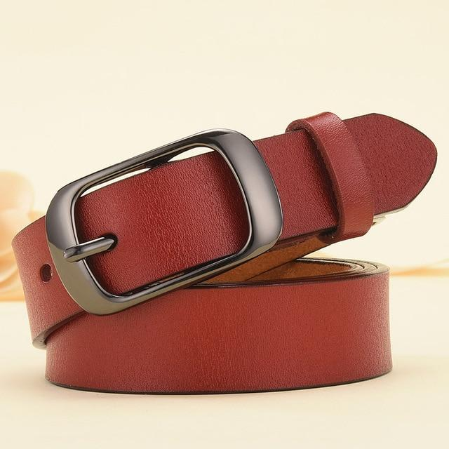 Women Genuine Leather Belt For Female - FIVE TIGERS