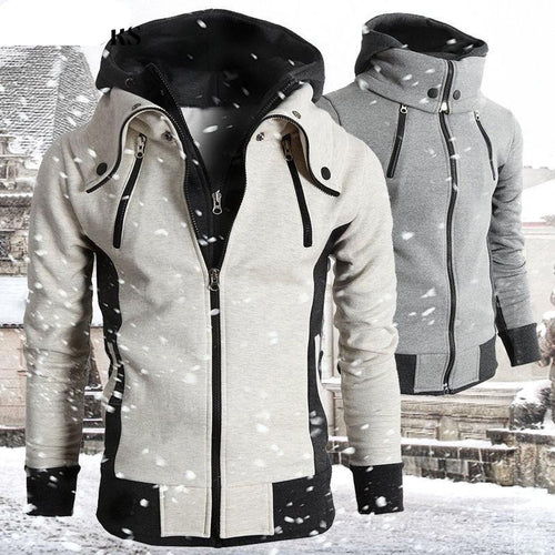 Zipper Men Jackets Autumn Winter Casual Fleece Coats - FIVE TIGERS