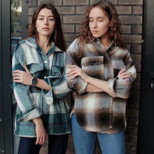 Load image into Gallery viewer, women oversize woolen shirts - FIVE TIGERS