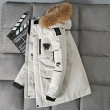 Load image into Gallery viewer, Thicken Down Coat Men With Big Real Fur Collar Warm Parka - FIVE TIGERS