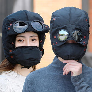 Winter Hat for Men Women Thick Balaclava Cotton Fur Earflap Warm Caps Skull Mask Male Female Winter wear