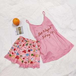 Summer Sleepwear   Print Pajama Sets for Women Sleepwear - FIVE TIGERS