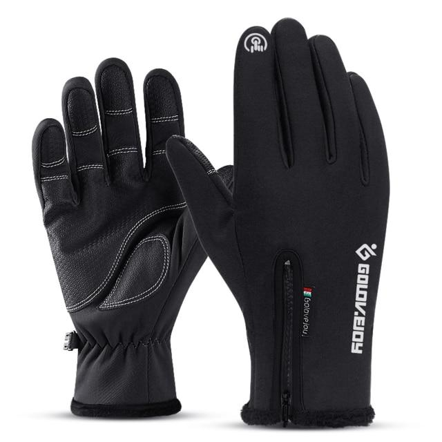 Cold-proof Unisex Waterproof Winter Gloves Cycling Fluff Warm Gloves - FIVE TIGERS