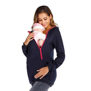 Kangaroo Multifunctional Winter Warm Polar Fleece Hoodie - FIVE TIGERS