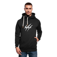 Load image into Gallery viewer, Shawl Collar Hoodie Printed - black