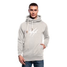 Load image into Gallery viewer, Shawl Collar Hoodie Printed - heather oatmeal