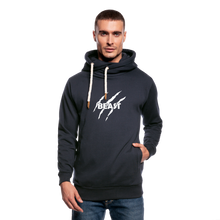 Load image into Gallery viewer, Shawl Collar Hoodie Printed - navy