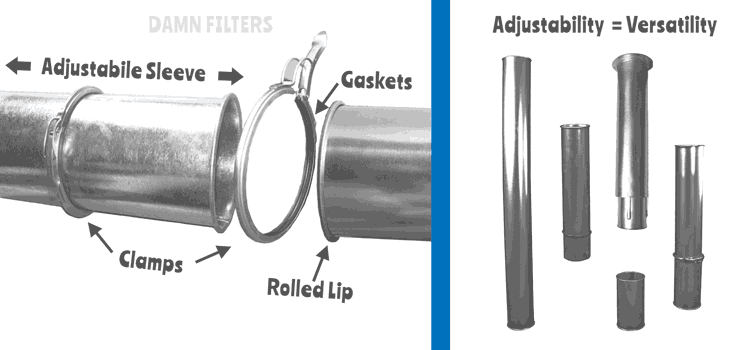 Clamp Together Ducting Is More Adjustable Than Spiral or Flanged Duct.
