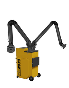"1200 cfm VentBoss® G121 Portable Weld Fume Extractor w/ (2) 6"" x 10' Lighted Fume Arm"