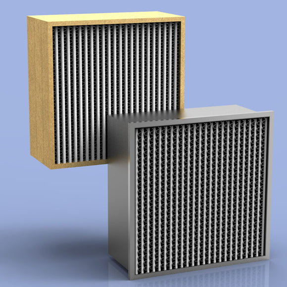 HEPA Filter 24x24x12 (11.5) Particle Board 1000 CFM