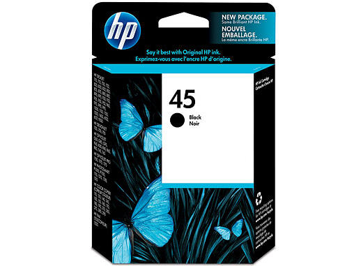 HP  51645A#140 HP #45 Black Inkjet Cartridge