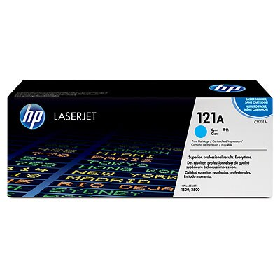 HP C9701A #121A Cyan Color LaserJet 1500, 2500 Smart Print Cartridge