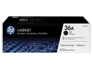 HP CB436D #36A Twin Toner Pack for Laserjet P1505/P1522