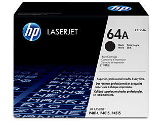 HP CC364A #64A Black Toner Cartridge for P4014/P4015