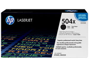 HP CE250X #504X Black High Yield For Color laserjet CP3525 CM3530