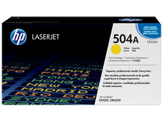 HP CE252A #504A Yellow Toner For Color Laserjet CP3525 CM3530