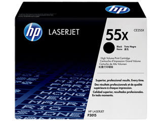 HP CE255X #55X Toner Cartridge for Laserjet P3015