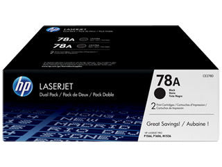 HP CE278D #78A Dual Pack Black Toner for P1566/P1606