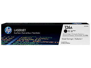 HP CE310AD #126A Black Toner Twin Pack For Color Laserjet Pro CP1025nw