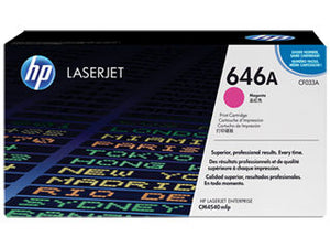 HP CF033A #646A Magenta Toner For Color Laserjet CM4540 Mfp