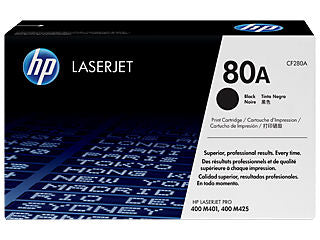 HP CF280A #80A Black Toner for Pro M401/m425